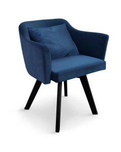 Chaise / Fauteuil scandinave Dantes Velours Bleu