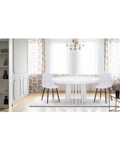 Table ovale extensible Eliza Blanc