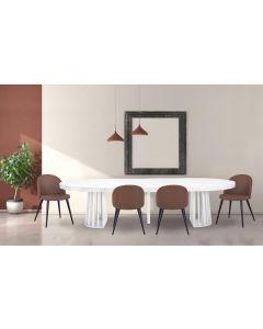 Table ovale extensible Eliza Effet Marbre