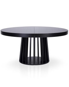 Table ronde extensible Eliza Noir