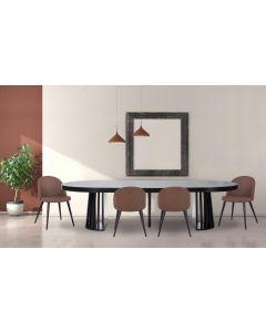 Table ovale extensible Eliza Noir