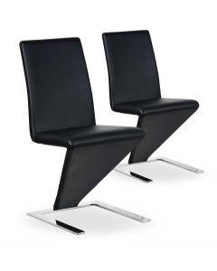 Lot de 2 chaises design et modernes noires Flash