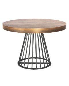 Table ronde extensible Grivery Chêne foncé pieds Noir