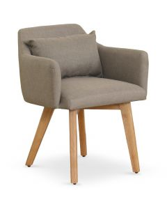 Chaise / Fauteuil scandinave Gybson Tissu Taupe
