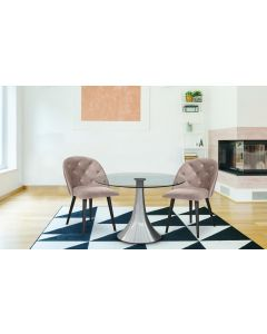 Chaise Honor Velours Taupe