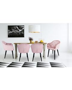 Chaise / Fauteuil Honorine Velours Rose