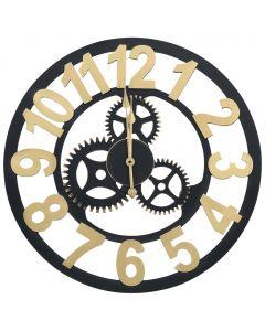 Horloge murale Astana Doré et noir 60 cm MDF