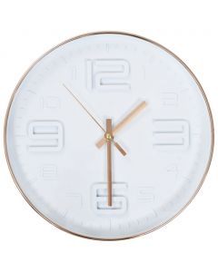 Horloge murale avec aspect de cuivre 30,5 cm