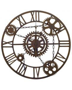Horloge murale Chainon Marron 80 cm Métal