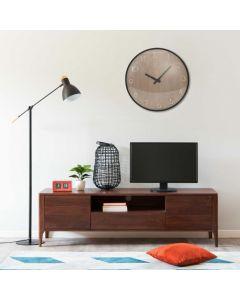 Horloge murale Gravurama 42cm Marron et noir