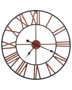 Horloge murale Larix D58cm Métal Rouge et Noir