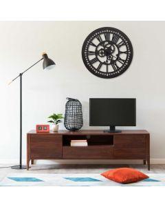 Horloge murale Mekanism D80cm Bois Noir