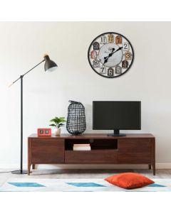 Horloge murale Plakett 51cm Métal Multicolore