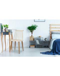 Lot de 2 chaises scandinaves Houlgate Beige