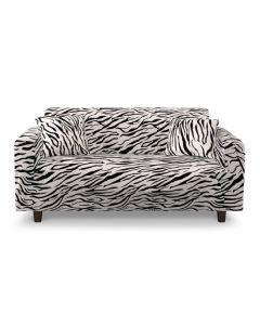 Housse de canapé extensible Decoprotect 2 places Zebra