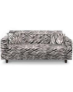 Housse de fauteuil extensible Decoprotect 3 places Zebra
