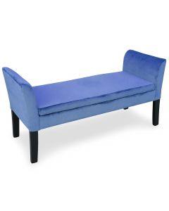 Banquette-coffre Idor Velours Bleu