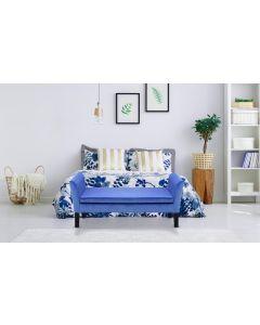 Banc coffre Idor Velours Bleu