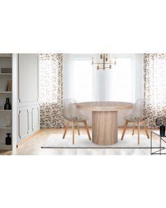Lot de 2 chaises scandinaves Larry Plexi Transparent