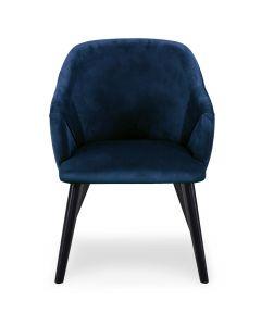 Lot de 2 fauteuils Liberto Velours Bleu