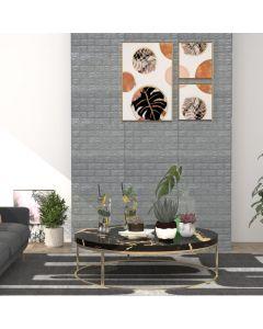 Lot de 10 papier peint autoadhésif Wall Effet 3D Motif Briques Anthracite