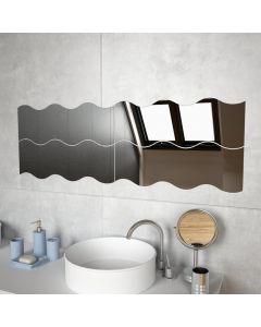 Lot de 4 miroirs muraux ondulés Janice Verre