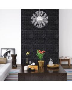 Lot de 40 papier peint autoadhésif Wall Effet 3D Motif Briques Noir