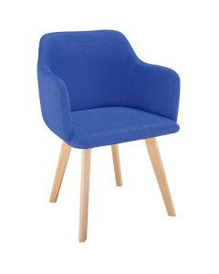 Chaise style scandinave Candy Tissu Bleu