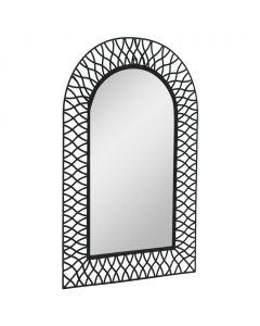 Miroir mural arqué Verandole 50x80cm Noir