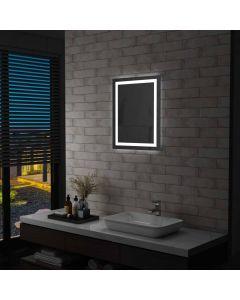 Miroir mural de salle de bain Oceanido 50x60cm LED et capteur tactile