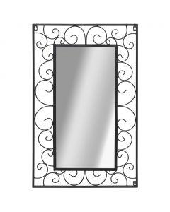 Miroir mural Rectangulaire Lotus 50x80cm Noir