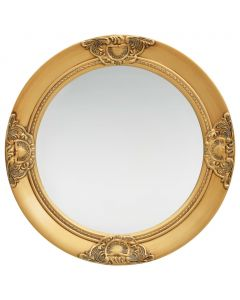 Miroir mural rond Charlemagne D50cm Or