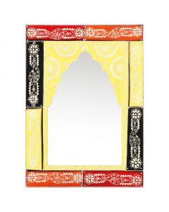 Miroir rectangulaire peint à la main Coloriental 40x55cm Bois Multicolore