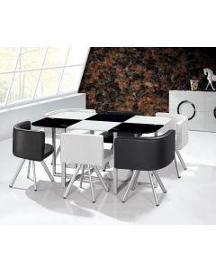 Table Mosaic XL Bicolore Noir et Blanc