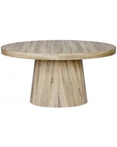 Table ronde extensible Oluze Chêne clair