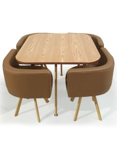 Table et chaises scandinaves Oslo Taupe