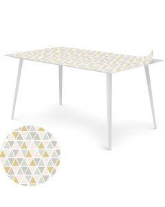 Table magnétique rectangulaire 150x90cm Bipolart Métal Blanc avec 1 Top Triangles Pastels