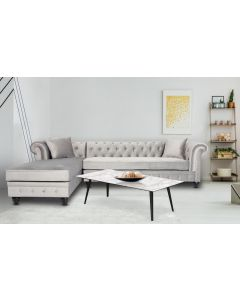 Table basse magnétique rectangulaire 120x60cm Bipolart Métal Noir avec 2 Tops style Textures