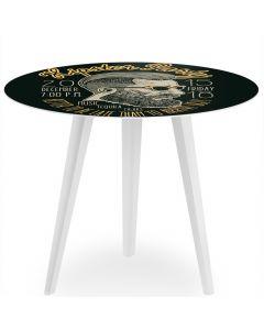 Table d'appoint magnétique ronde 45cm Bipolart Métal Blanc avec 3 Tops style Fun