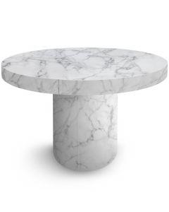 Table ronde extensible Suzie Effet Marbre