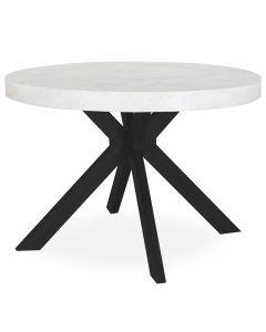 Table ronde extensible Myriade Noir et Effet Marbre