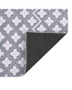Tapis imprimé Treflade Noir et blanc 120x160cm