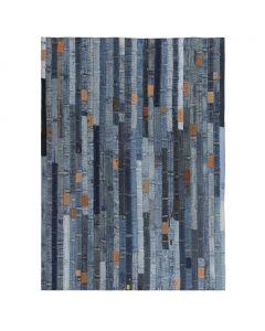 Tapis jeans Patchwork Cowboy 160x230cm Denim Bleu