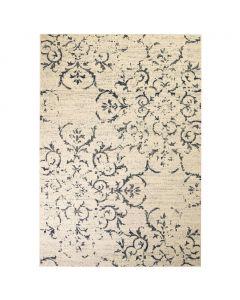 Tapis moderne design floral Martobal 120x170cm Beige et Gris