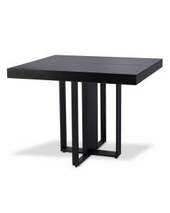 Table extensible Teresa Noir pieds Noir