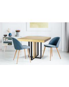 Table extensible Teresa Chêne Clair pieds Noir