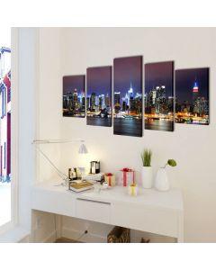 Toile polyptyque Everywhere 100x50cm Multicolore Motif Horizon de New York