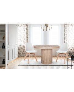 Lot de 2 chaises style scandinave Bovary Blanc