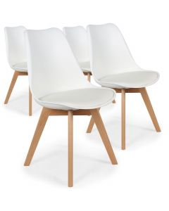 Lot de 4 chaises Conor Simili (P.U) Blanc