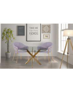 Lot de 2 chaises/fauteuils Ulrick Tissu Gris